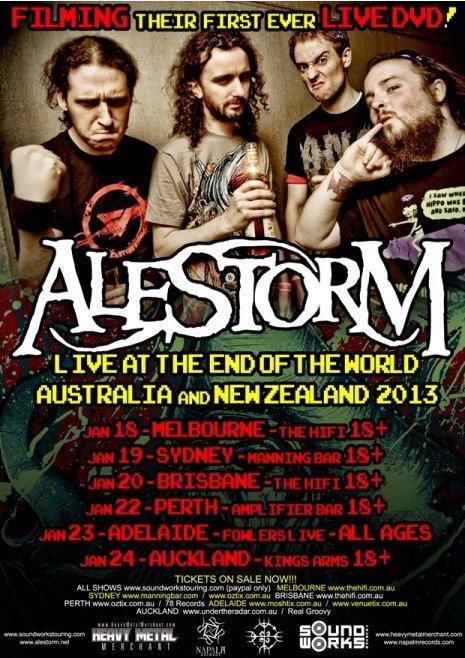 ALESTORM AUSTRALIA TOUR ADELAIDE SE BON KI RA METAKL BAND SOUNDWORKS
