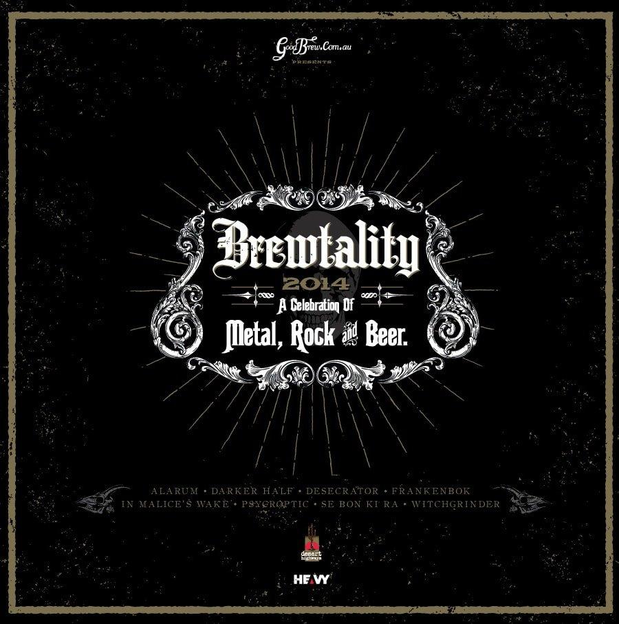 brewtality 2014 Metal Festivalvinyl cover sebonkira