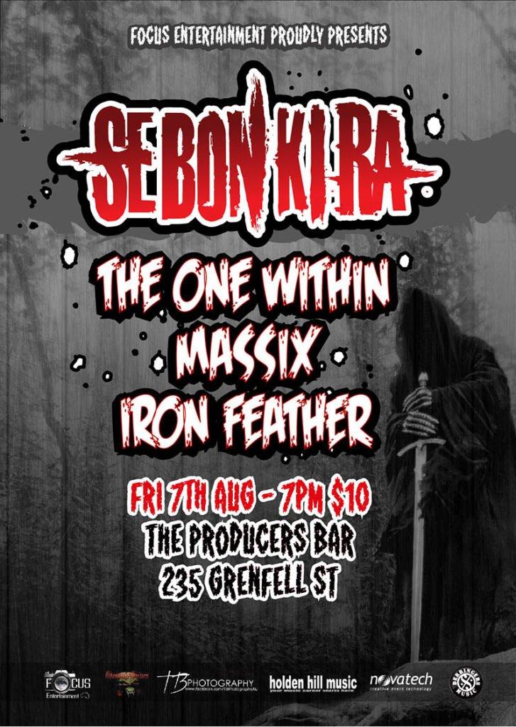 sebonkira Producers Bar Adelaide South Australia Gig Show Metal