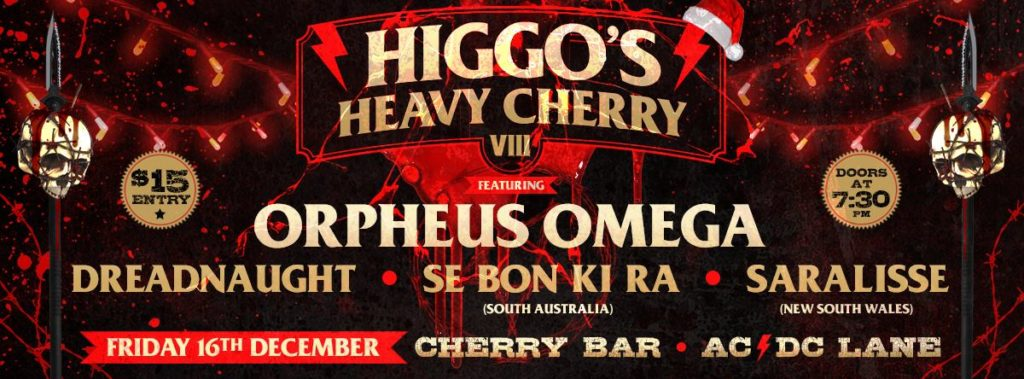 Higgo's Heavy Cherry VIII 16th Dec 2016 Cheery Bar Melbourne SEBONKIRA