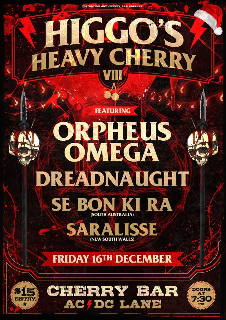 Higgo's Heavy Cherry VIII 16th Dec 2016 Cheery Bar Melbourne SEBONKIRA