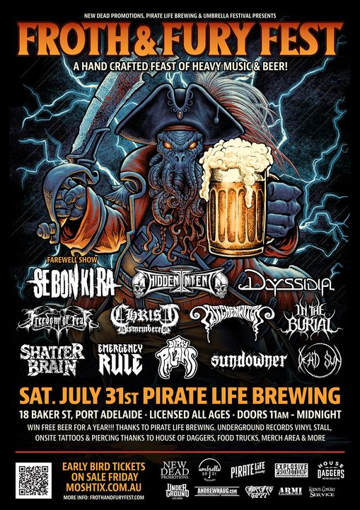 FROTH AND FURY FEST Saturday July 31st at Pirate Life Brewing